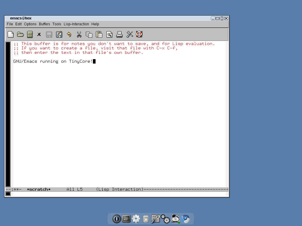 GNU/Emacs 23.2 Desktop Screenshot